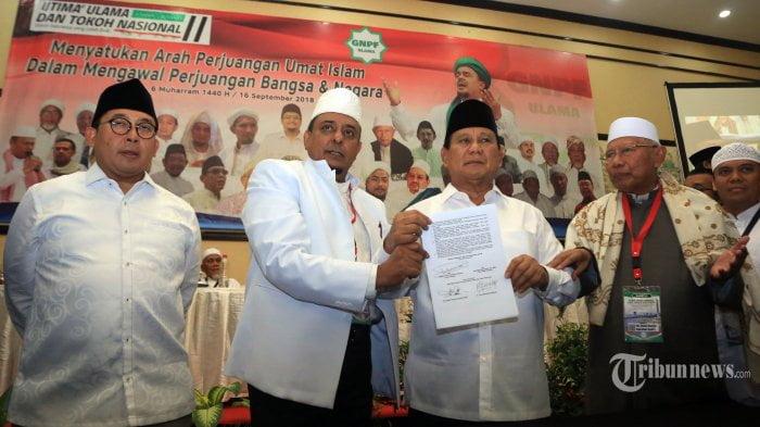 Prabowo garansi karpet merah untuk Habib Rizieq bila menang Pilpres 2019
