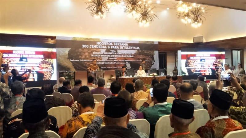 300 Jenderal Dan Intelektual Diskusi Mengenai Solusi Tatanan Ekonomi Indonesia Bersama Prabowo