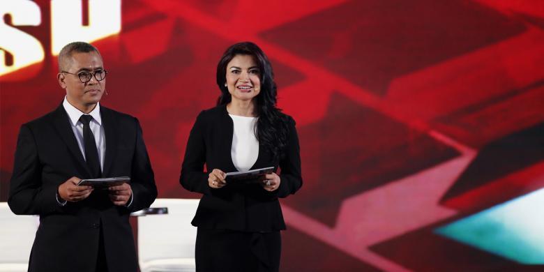 Moderator debat kedua, TIna Talisa dan Eko Prasojo