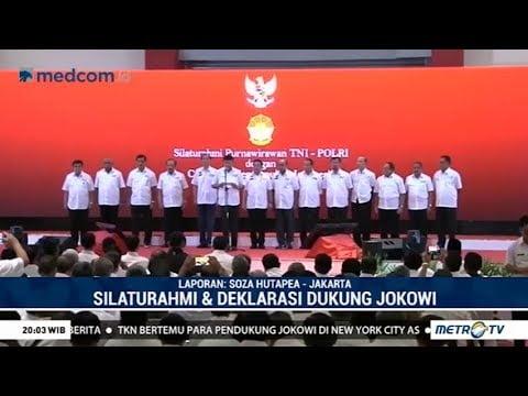 Purnawirawan TNI-Polri deklarasi dukung Jokowi-Maruf