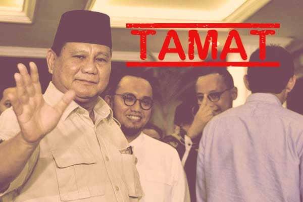 Semua Permohonan Prabowo-Sandi Ditolak, Koalisi Adil Makmur Tamat