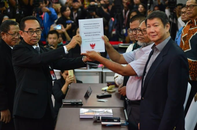 Prabowo dan Sandi hadiri sidang MK